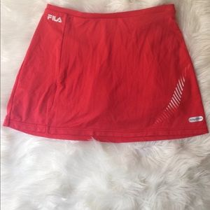 Fils/Fila Women Athletic Skirt w/Shorts Sport Sz M